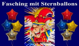 Fasching mit Sternballons