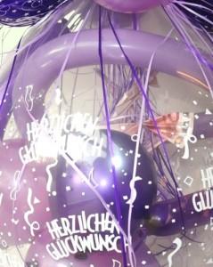 Geldgeschenk im Luftballon