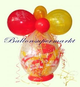 Verpackungsballon zum Geburtstag, Geschenk im Luftballon, Geschenkballon