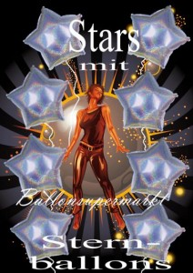 Stars feiern mit Sternballons
