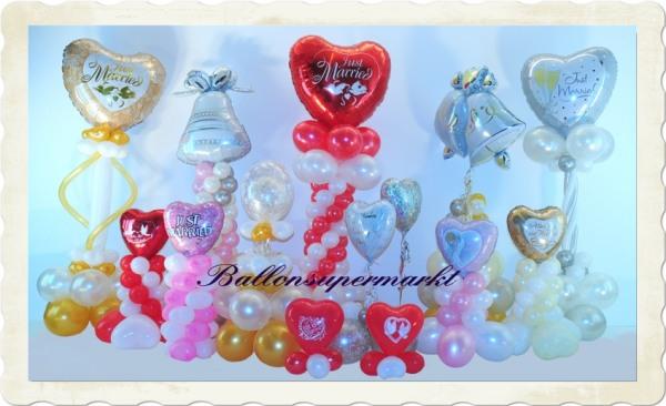 Luftballons zur Hochzeit Ballondeko