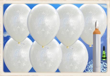 Luftballons-zur-Hochzeit-steigen-lassen-100-Luftballons-in-Elfenbein-Just-Married-Ballons-Helium-Komplett-Set