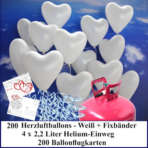 Luftballons-zur-Hochzeit-steigen-lassen-200-weisse-Herzluftballons-Helium-Set-mit-Ballonflugkarten
