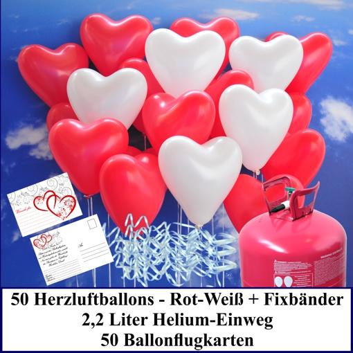 Luftballons-zur-Hochzeit-steigen-lassen-rot-weisse-Herzluftballons-Helium-Set-mit-Ballonflugkarten