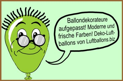 Ballondekorateure aufgepasst: Deko-Luftballons in zeitgemäßer Farbpalette. Schönste, moderne Farbkompositionen.
