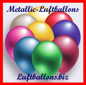 Luftballons in Metallic-Farben
