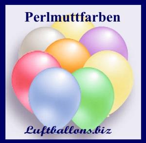 Luftballons in Perlmutt.Farben
