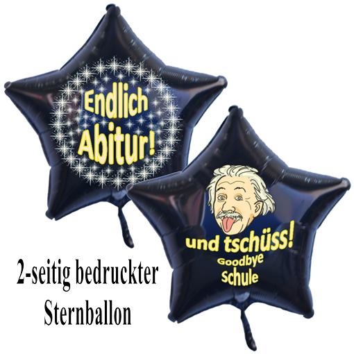 Luftballon Abitur endlich geschafft und tschüss Schule