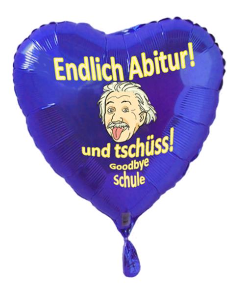 Luftballon Endlich Abitur! und tschüss Schule