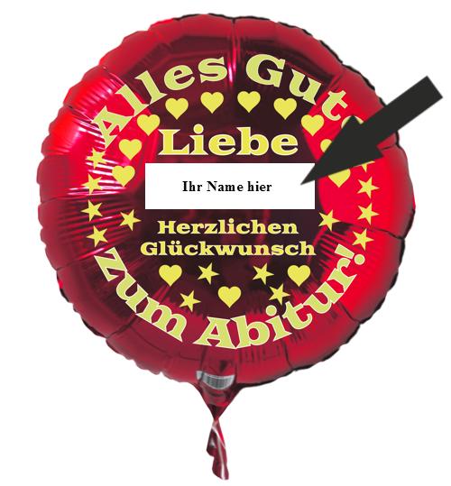 personalisierter Luftballon zum Abitur