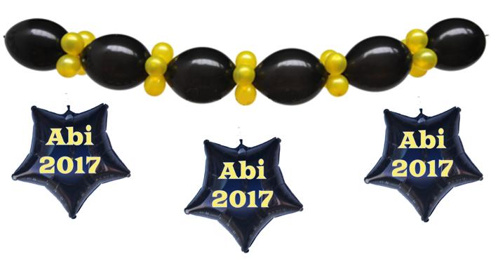 Ballongirlande zum Abiball: Abi 2017