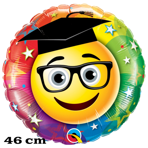 Luftballon zum Abitur Smiley Graduate
