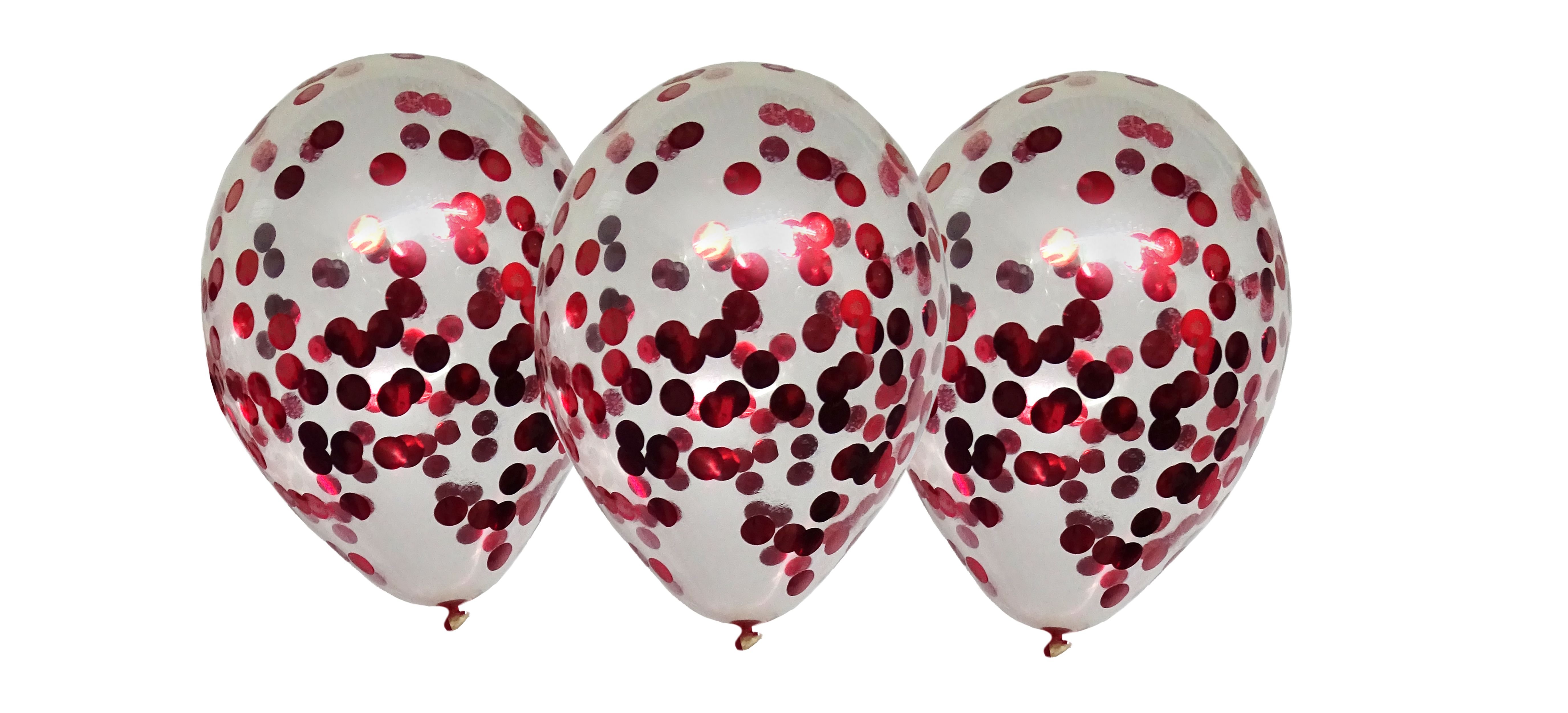 konfettiluftballons-rot
