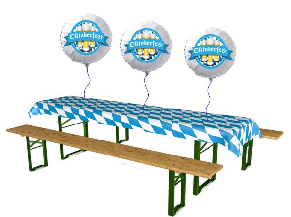 Dekoration Oktoberfest Luftballons aus Folie
