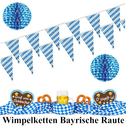 Wimpelkette Oktoberfest Bayrische Raute